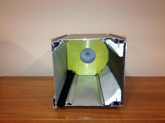 Κουτί θερμού ρολού Alumil 18,5x19